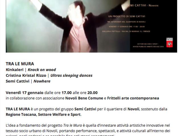TRA LE MURA: alla FrittelliArte un lavoro per il quartiere di Novoli e i suoi residenti.