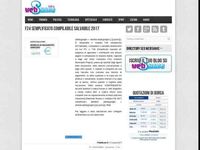 F24 semplificato compilabile salvabile 2017