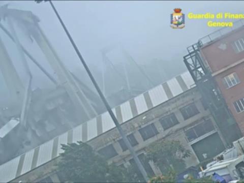 Crollo del Ponte Morandi, spunta un video mai visto