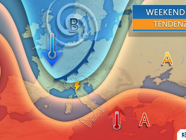 Meteo; WEEKEND MOVIMENTATO tra sole e nuovi temporali. Ecco la tendenza