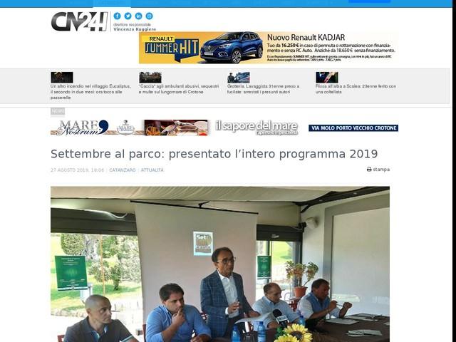 Settembre al parco: presentato l'intero programma 2019
