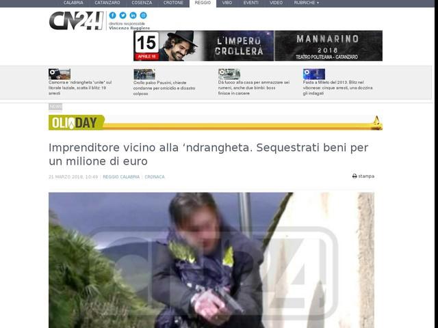 Imprenditore vicino alla 'ndrangheta. Sequestrati beni per un milione di euro