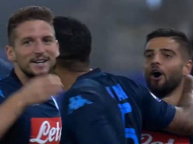 Mertens come Maradona, gol pazzesco alla Lazio