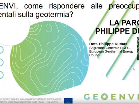 Geoenvi, come rispondere alle preoccupazioni ambientali sulla geotermia? La parola a Egec