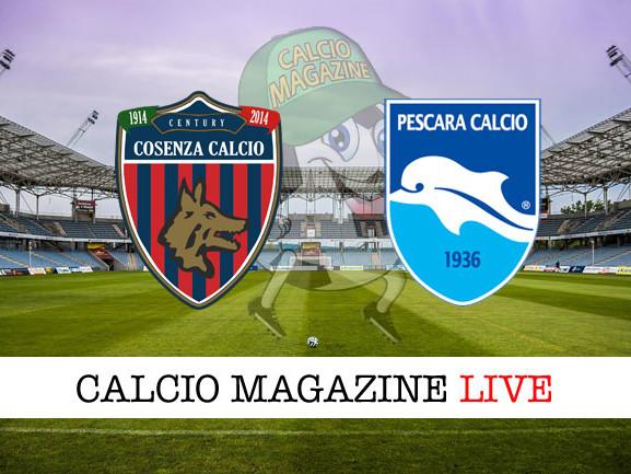 Cosenza – Pescara: cronaca diretta live, risultato in tempo reale