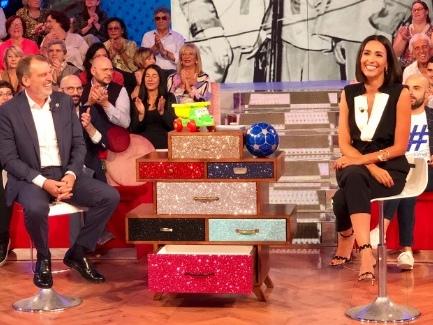 Caterina Balivo litiga con Marco Tardelli in diretta