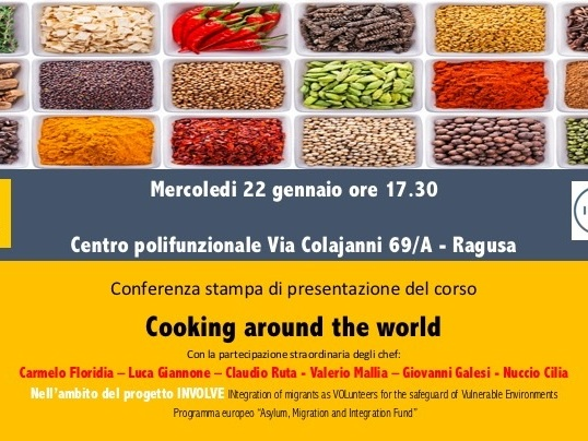 Cooking around the world: 6 chef della provincia di Ragusa e un corso di cucina per migranti