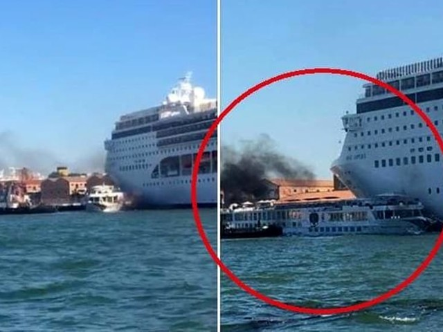 Incidente a Venezia, nave da crociera contro battello turistico