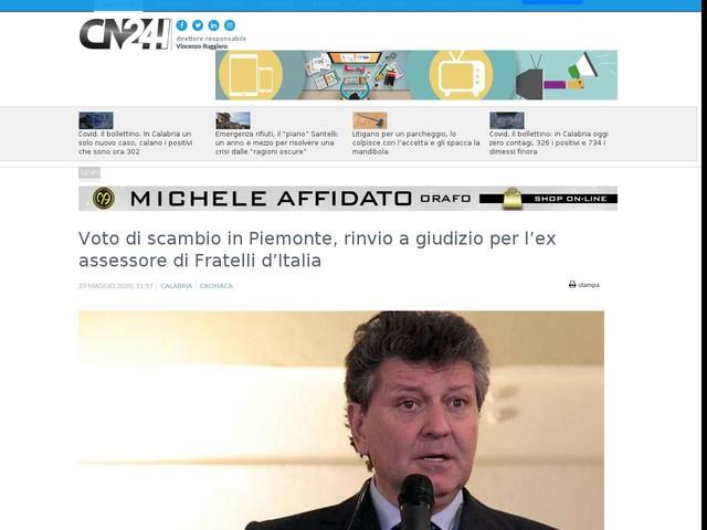 Voto di scambio in Piemonte, rinvio a giudizio per l'ex assessore di Fratelli d'Italia
