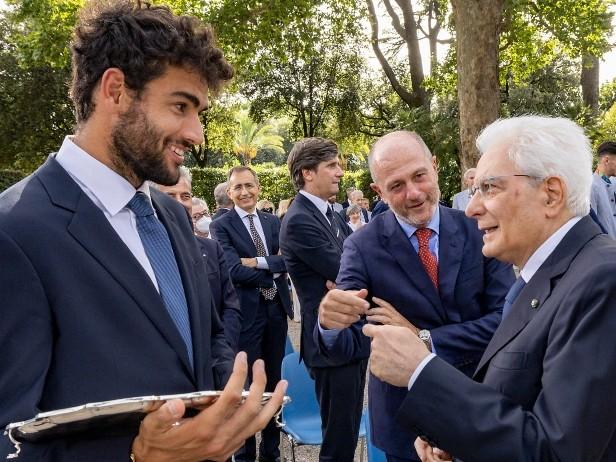 """Berrettini al Quirinale: """"Spero di tornare con un trofeo"""""""