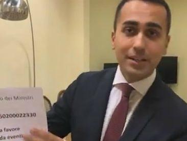 """M5s, l'annuncio di Di Maio: """"Nostri stipendi a Regioni colpite dal maltempo"""". E invita altre forze politiche a fare lo stesso"""