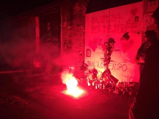 """""""San Lorenzo non ti dimentica"""", lo striscione un anno dopo la morte di Desirèe Mariottini"""