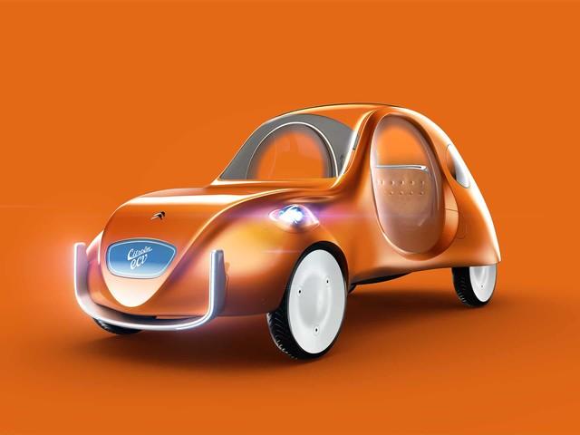 Citroën 2 CV: un designer la immagina come auto elettrica