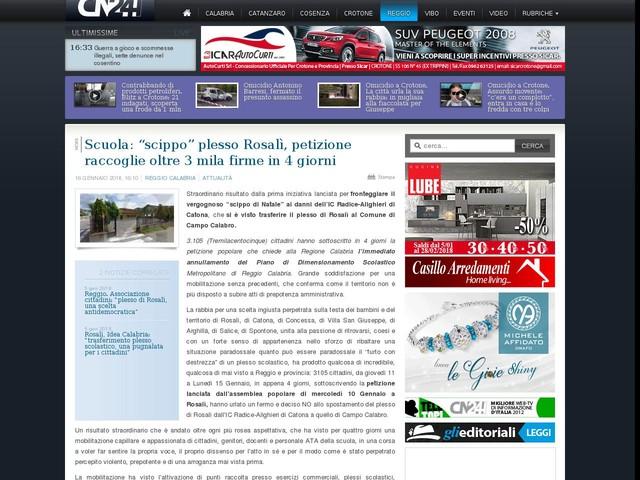 """Scuola: """"scippo"""" plesso Rosalì, petizione raccoglie oltre 3 mila firme in 4 giorni"""