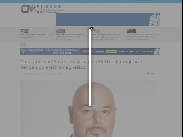 Caso antenne Soverato: Arpacal effettua il monitoraggio del campo elettromagnetico