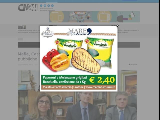 Mafia, Cassano riceve 198 mila euro per le opere pubbliche