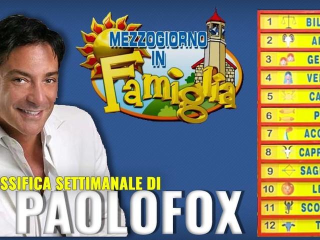Oroscopo Paolo Fox, scopri la classifica settimanale