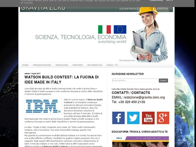 WATSON BUILD CONTEST: LA FUCINA DI IDEE MADE IN ITALY