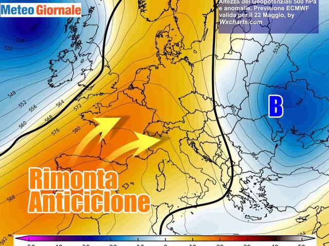 Anticiclone scaccerà da giovedì il Vortice Mediterraneo: PROVE D'ESTATE