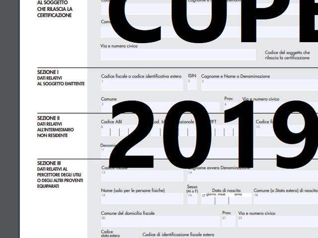 Nuovo modello CUPE editabile 2019 - scarica Gratis