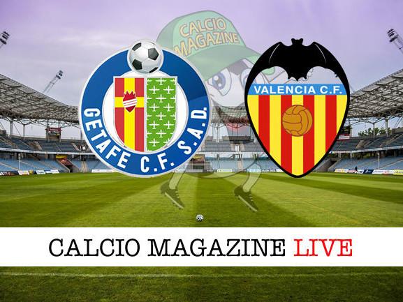 Getafe – Valencia: dove vedere la diretta live e risultato