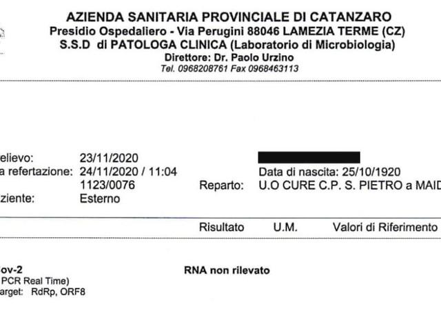 Catanzaro, nonnina classe 1920 sconfigge il coronavirus: guarita a 100 anni