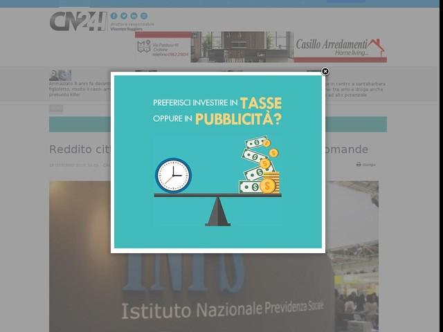 Reddito cittadinanza, in Calabria più di 117mila domande