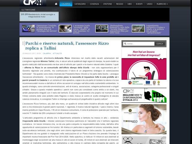 Parchi e riserve naturali, l'assessore Rizzo replica a Tallini
