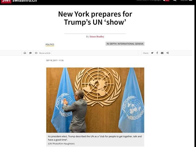 New York prepares for Trump's UN 'show'