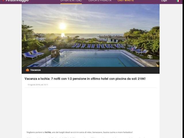 Vacanza a Ischia: 7 notti con 1/2 pensione in ottimo hotel con piscina da soli 218€!