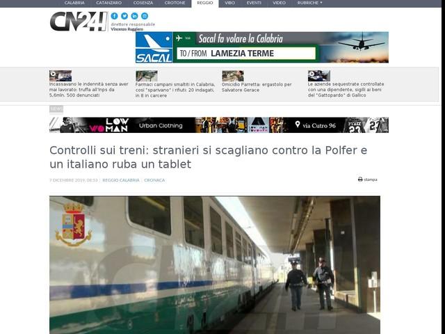 Controlli sui treni: stranieri si scagliano contro la Polfer e un italiano ruba un tablet