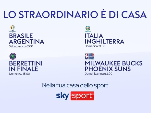 Berrettini a Wimbledon, l'Italia a Euro 2020 e non solo: su Sky è la domenica delle finali