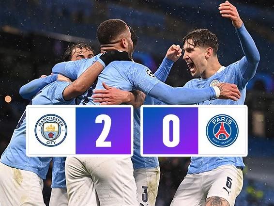 Il Manchester City batte 2-0 il PSG e vola in finale di Champions League: doppietta di Mahrez