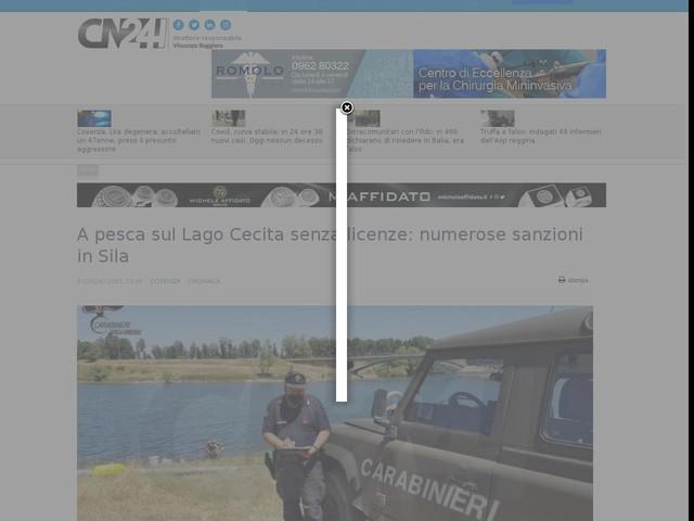 A pesca sul Lago Cecita senza licenze: numerose sanzioni in Sila