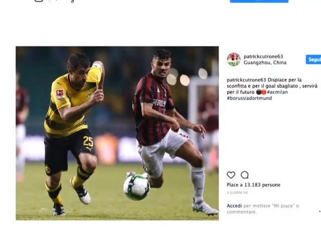 Milan, contro il Bayern Cutrone segna e sogna la numero 9