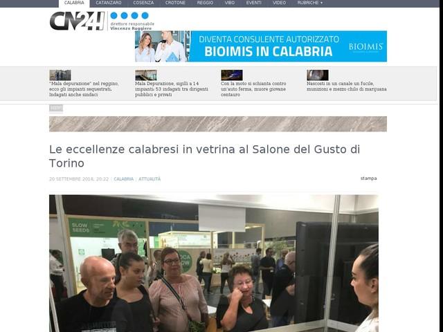 Le eccellenze calabresi in vetrina al Salone del Gusto di Torino
