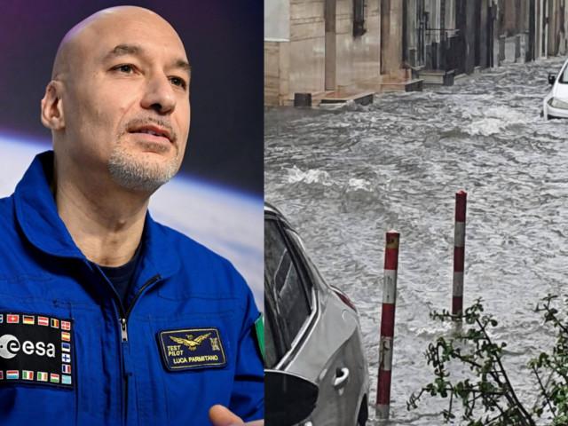 """Devastante maltempo a Catania, il messaggio di Luca Parmitano: """"La mia città risorgerà ancora"""""""