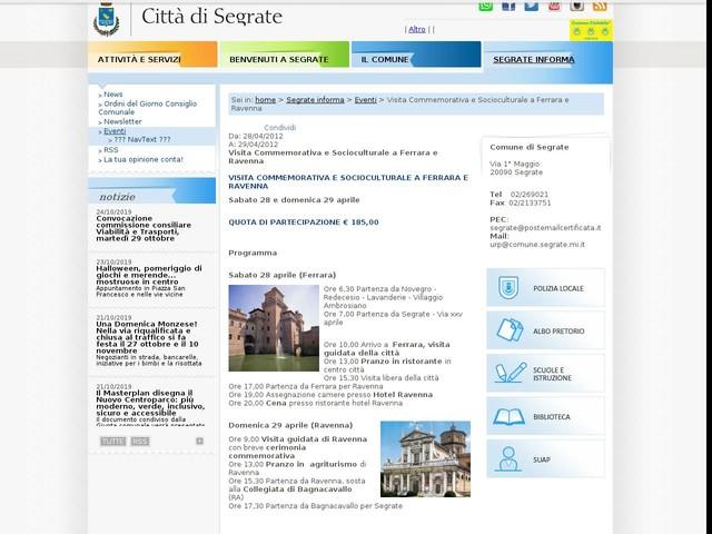 Visita Commemorativa e Socioculturale a Ferrara e Ravenna