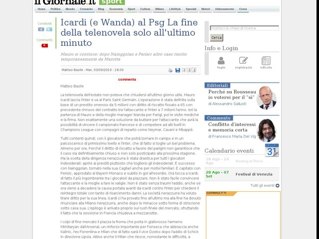 Icardi (e Wanda) al Psg La fine della telenovela solo all'ultimo minuto