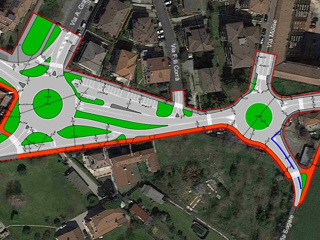 Viabilità più sicura e fluida a Borgo Milano con due nuove rotonde in Via San Marco