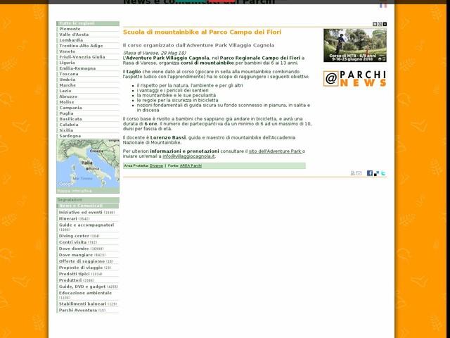 AREA Parchi - Scuola di mountainbike al Parco Campo dei Fiori