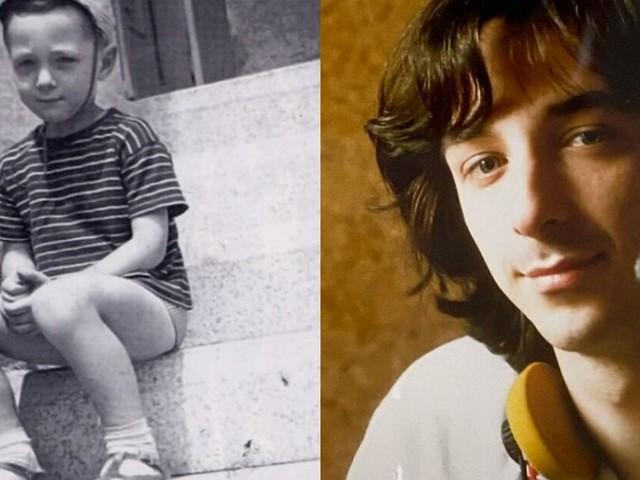 Ecco le foto dell'infanzia e dell'adolescenza del presentatore radiofonico Linus