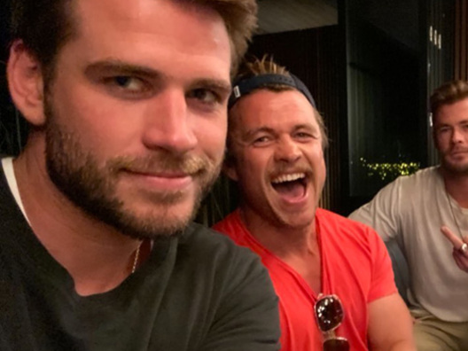 I fratelli Hemsworth insieme su Instagram