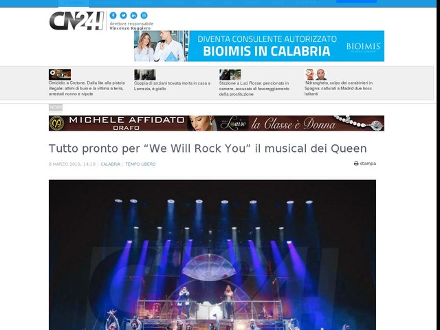 "Tutto pronto per ""We Will Rock You"" il musical dei Queen"