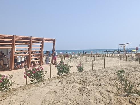 Pescara, inaugurata la prima eco-spiaggia grazie alla sinergia tra Comune e Fater