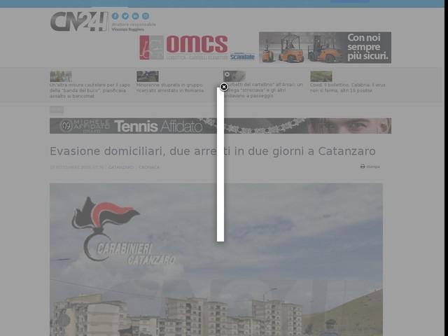 Evasione domiciliari, due arresti in due giorni a Catanzaro