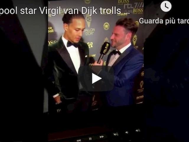 """Pallone d'Oro, Van Dijk sfotte Cristiano Ronaldo: """"Ma davvero era tra i candidati?!"""""""