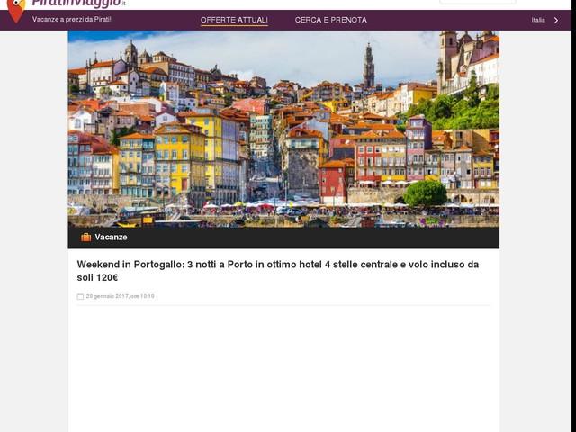Weekend in Portogallo: 3 notti a Porto in ottimo hotel 4 stelle centrale e volo incluso da soli 120€