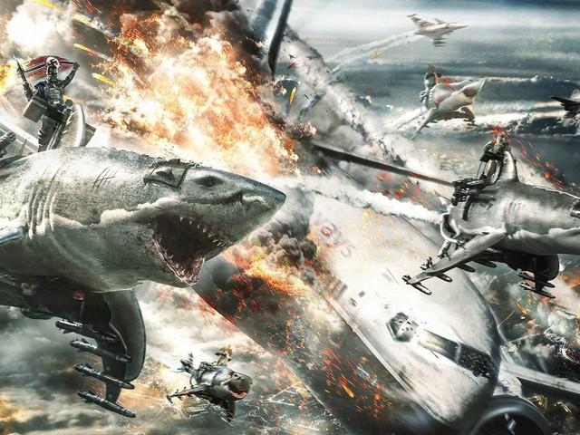 Sky Sharks: nuovo trailer dell'horror fantascientifico con squali volanti e nazisti zombie