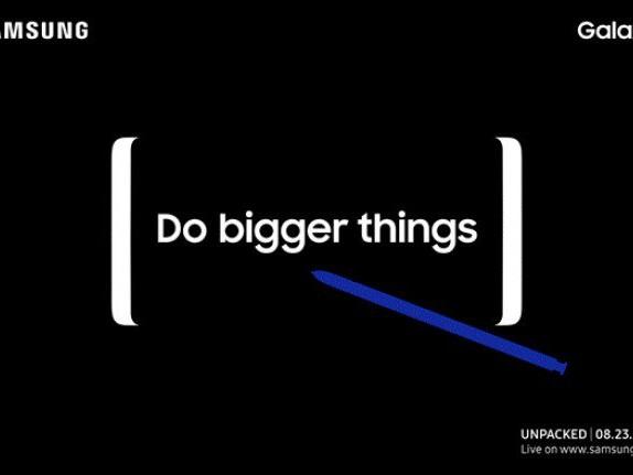 Galaxy Note 8 sarà presentato il 23 agosto, Samsung conferma
